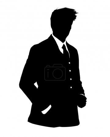 Photo pour Illustration graphique de l'homme en costume d'affaires comme icône utilisateur, avatar - image libre de droit