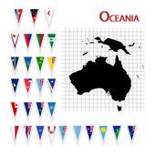 """Постер, картина, фотообои """"флаги Океании"""""""