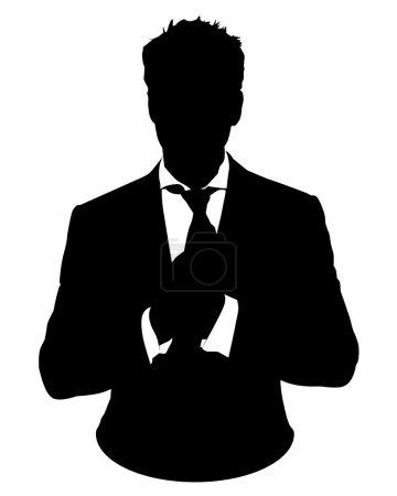 Photo pour Illustration graphique de l'homme en costume d'affaires sous forme d'icône d'utilisateur, avatar - image libre de droit