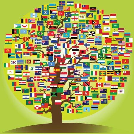 Photo pour Symbole de paix arbre de l'amitié entre les nations - image libre de droit