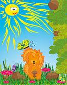 Series: wood friends Squirrel Vector illustration