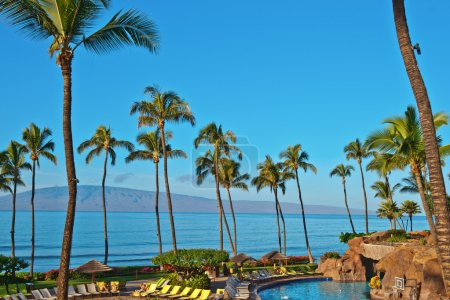 A hotel beach in Maui Hawai