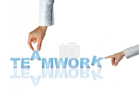 Hand and word Idea - business concept (isolated on white background)