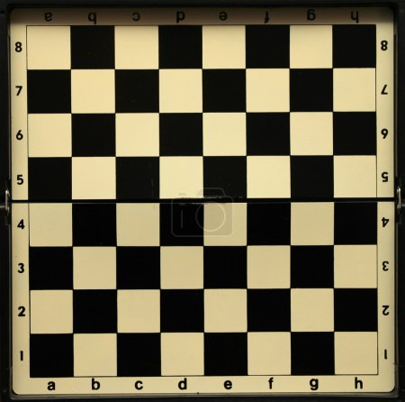 Black and white old empty chess board for a beauti...