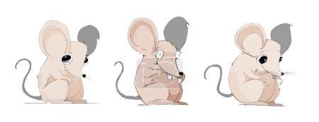 Crazy Mice Character Handrawn