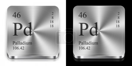 Palladium, two metal web buttons...