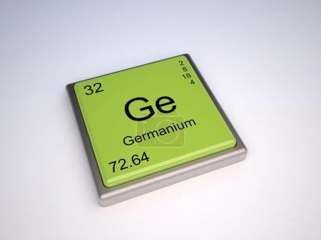 Photo pour Élément chimique Germanium du tableau périodique avec symbole Ge - image libre de droit