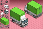 Isometric pick up truck in two position