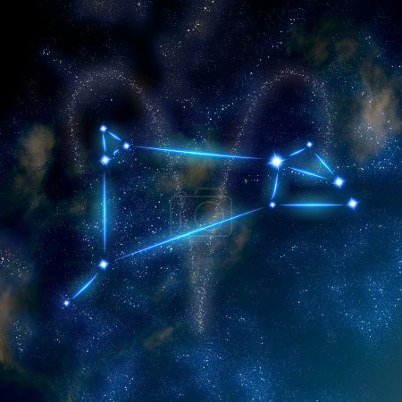 Aries constellation and symbol