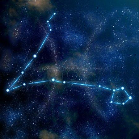 Pisces constellation and symbol