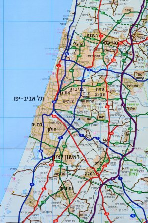 Carte israélienne .