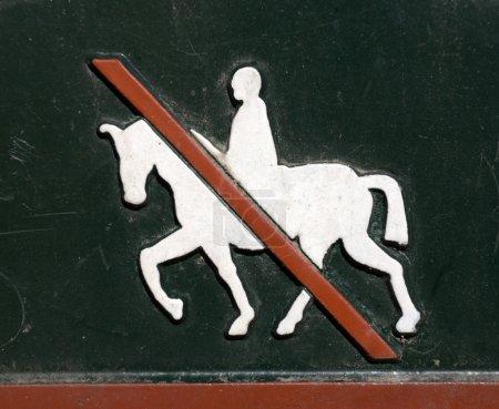Horse riding forbidden.