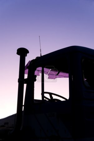 Silhouette of vintage truck