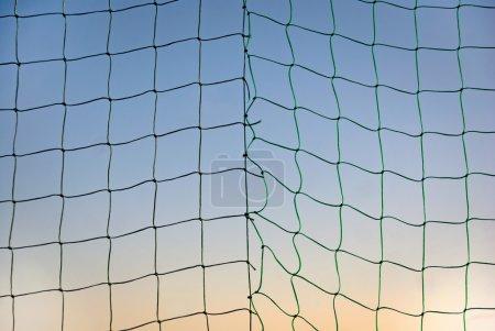 Sports net on blue sky