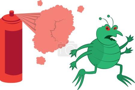 Bug vert pulvérisé