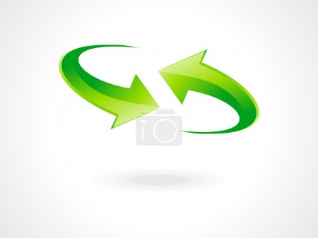 Abstract green refresh icon