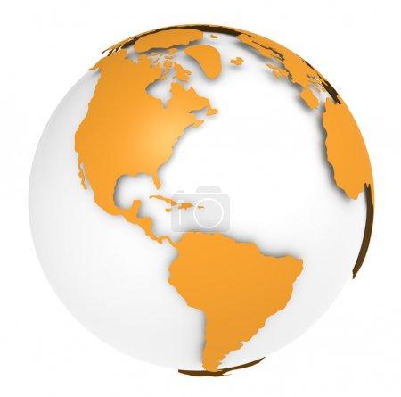 Photo pour La Terre, conception Orange Shell. Peu abondant et isolé . - image libre de droit