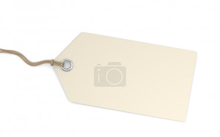 Photo for Blank price tag - Royalty Free Image