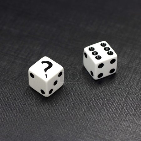 Dices on a black background