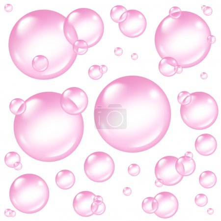 Pink Bubbles Design Elements