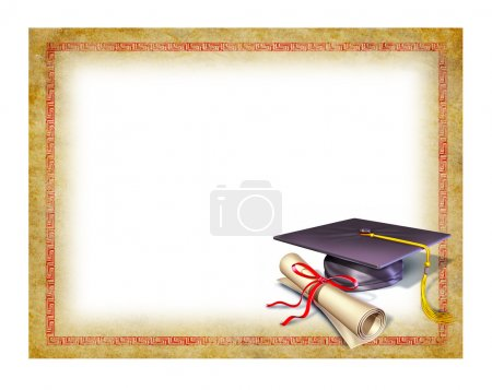 Photo for Graduation blank diploma - Royalty Free Image