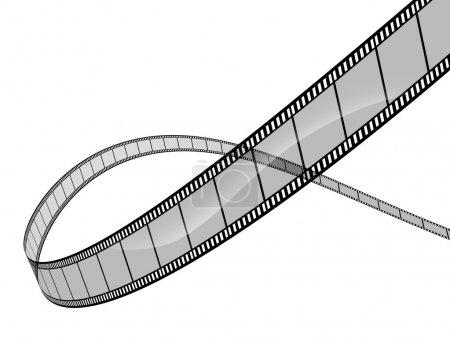 3d film on white