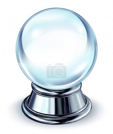 Crystal Ball With Metal Base