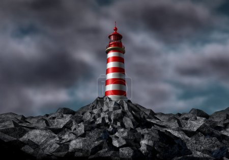 Lighthouse With Dark Storm Clouds