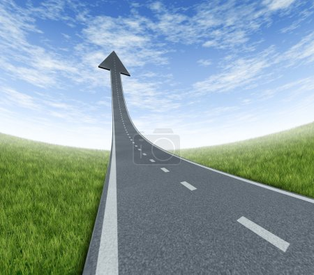 Success highway rising to the top as a road to fin...