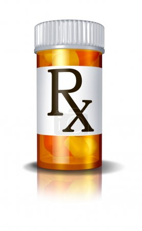RX Prescription Drugs Pill Bottle