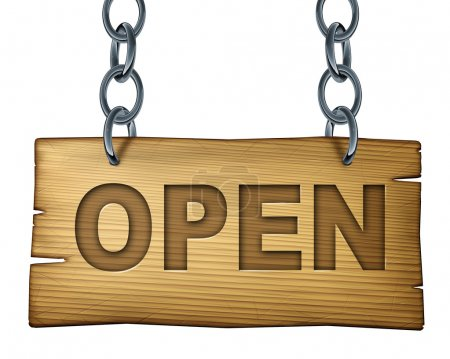 Old Wooden Open Sign
