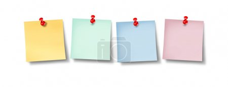 Blank Office Sticky Notes Design