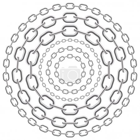Metallic circle chains