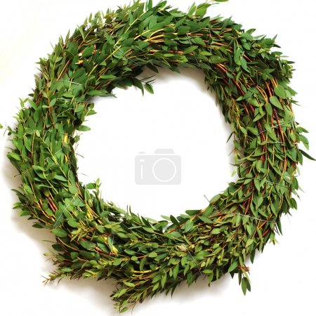 Photo for A wreath made of eucalyptus - Royalty Free Image