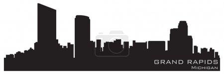 Grand Rapids, Michigan skyline. Detailed vector si...