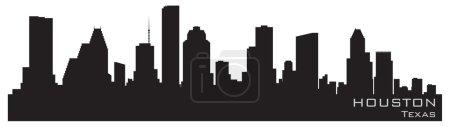 Illustration for Houston, Texas skyline. Detailed vector silhouette - Royalty Free Image