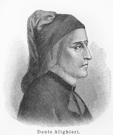 Photo pour Dante alighieri - photo de lexique meyers livres écrits en langue allemande. collection de 21 volumes publiés entre 1905 et 1909. - image libre de droit