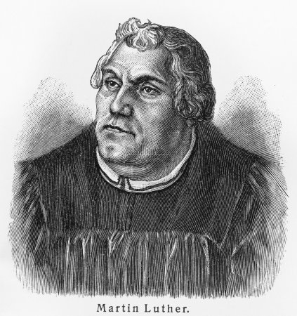 Martin Luther - Picture from Meyers Lexicon books ...