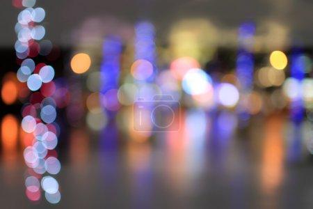 City blurry lights