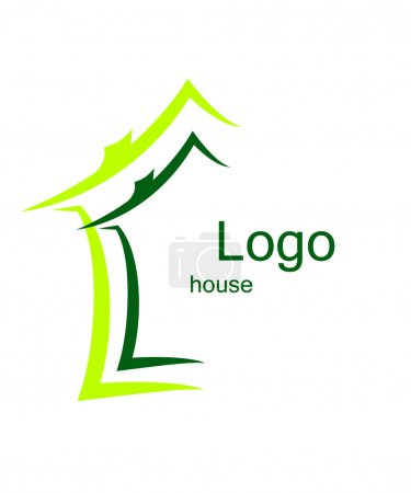 Illustration for Green; vector; symbol; house; environmental; icon - Royalty Free Image