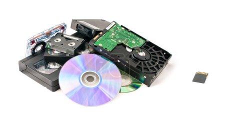 Flash card near old memory heap