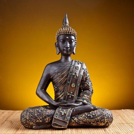 Buddha Buddhismus zen gold Statue Gott Feng-Shui Asien