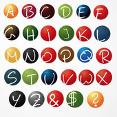 alphabet abc school children learn basic letters logo icon circular magazine set collection