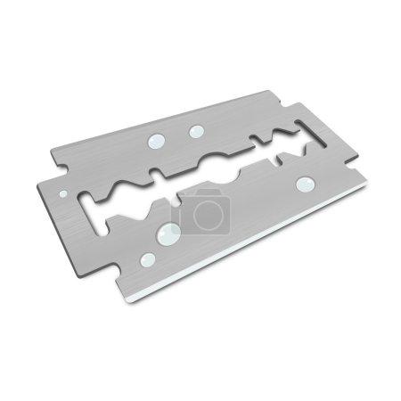 3D Vector razor blade with water Drops