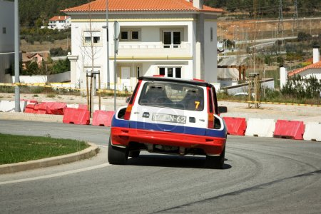 CASTELO BRANCO, PORTUGAL - MARCH 10: Anibal Rolo drives a Renault 5 Turbo during Rally Castelo Branco 2012, integrated on Open Championship in Castelo Branco, Portugal on March 10, 2012.