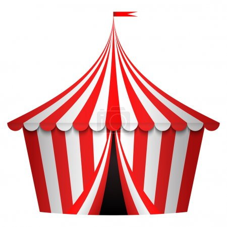 Vector illustration of circus tent