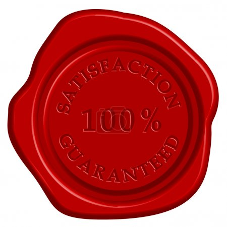 Illustration for Vector illustration of guarantee stamp - Royalty Free Image