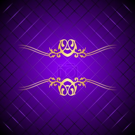 Vector fond violet & or luxe