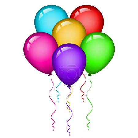 Illustration for Vector illustration of colorful balloons - Royalty Free Image