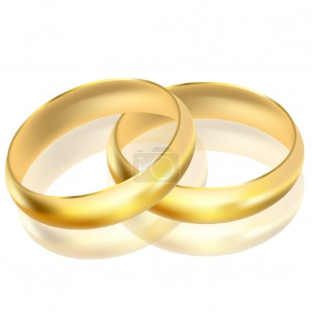 Vector illustration of gold rings